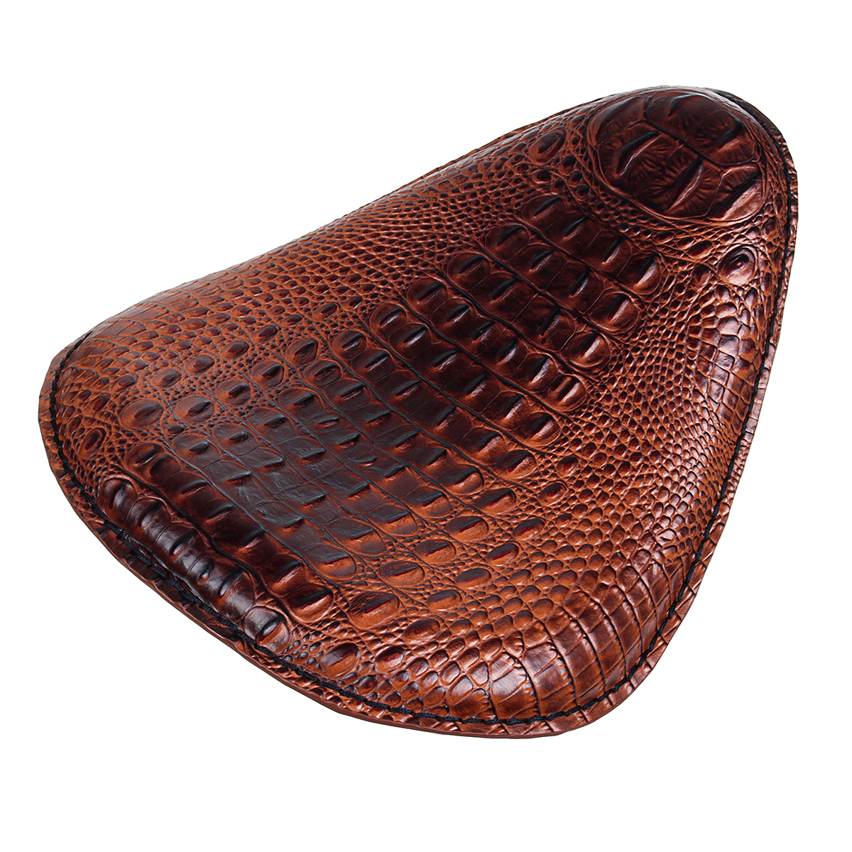 Motorcycle Solo Driver Racing Seat Cushion Spring Base Brown For Harley Universal