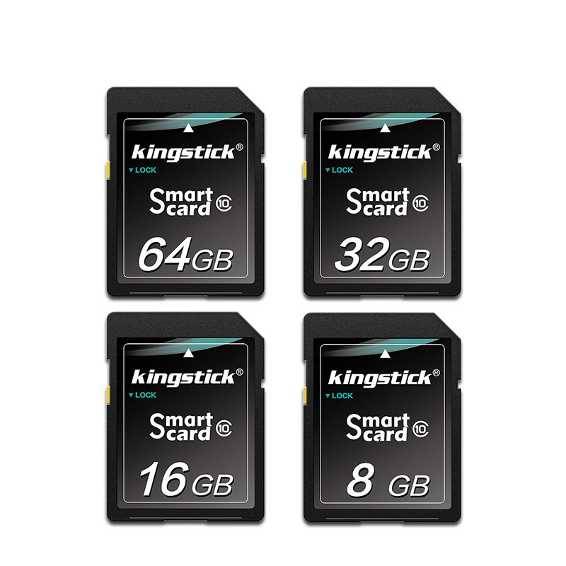 Kingstick SD Card 32GB 64GB Карта памяти 128 ГБ Класс 10 SD Flash Карта памяти SD Смарт-карта для камера