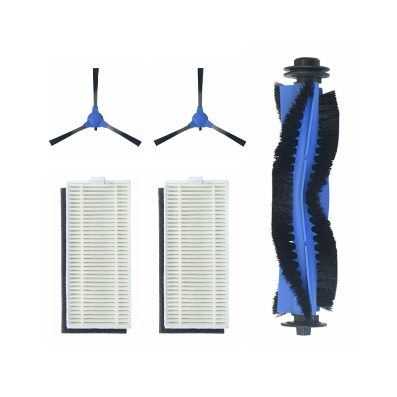 5pcs Brush Filter Accessories Replacements for Eufy RoboVac11S RoboVac 30 Vacuum Cleaner Roller Brush*1 Side Brushes*2 Filters*2