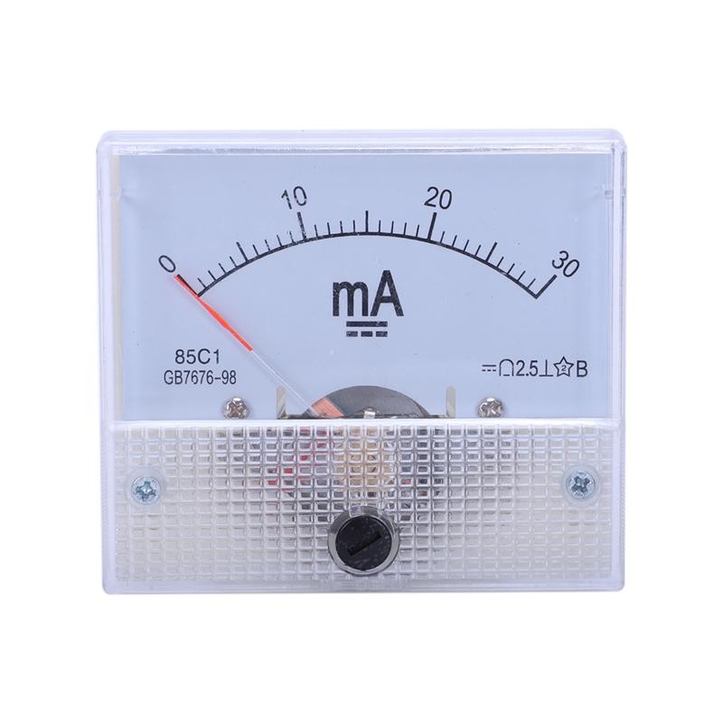85C1 DC мА амперметр 0-10MA 30MA 50MA 100MA Аналоговый амперметр Амперметр