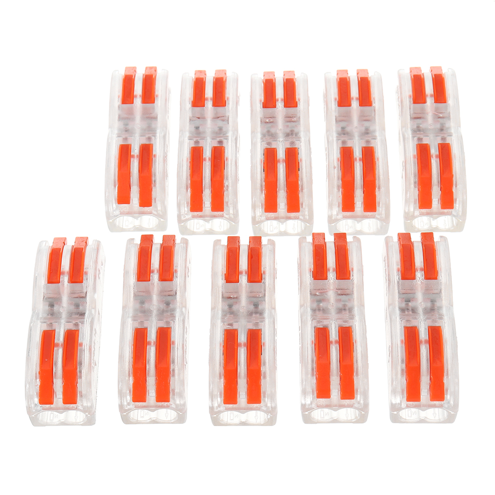 10pcs SPL-2 Clear Wire Connector Fast Connection Terminal