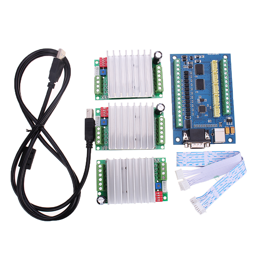 CNC Driver Board USB MACH3 Engraving Machine 5-Axis with MPG Stepper Motor Controller Board
