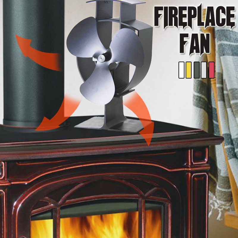 Thermal Power Fan 3-Blade Heat Powered Stove Fan for Wood/Log Burner/Fireplace Eco Friendly