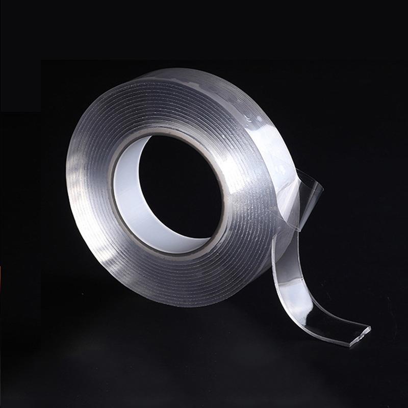 Многоразовая прозрачная двухсторонняя лента может промытая акриловая крепежная лента Nano Лента без следов Волшебный Авто Двусторонняя ле