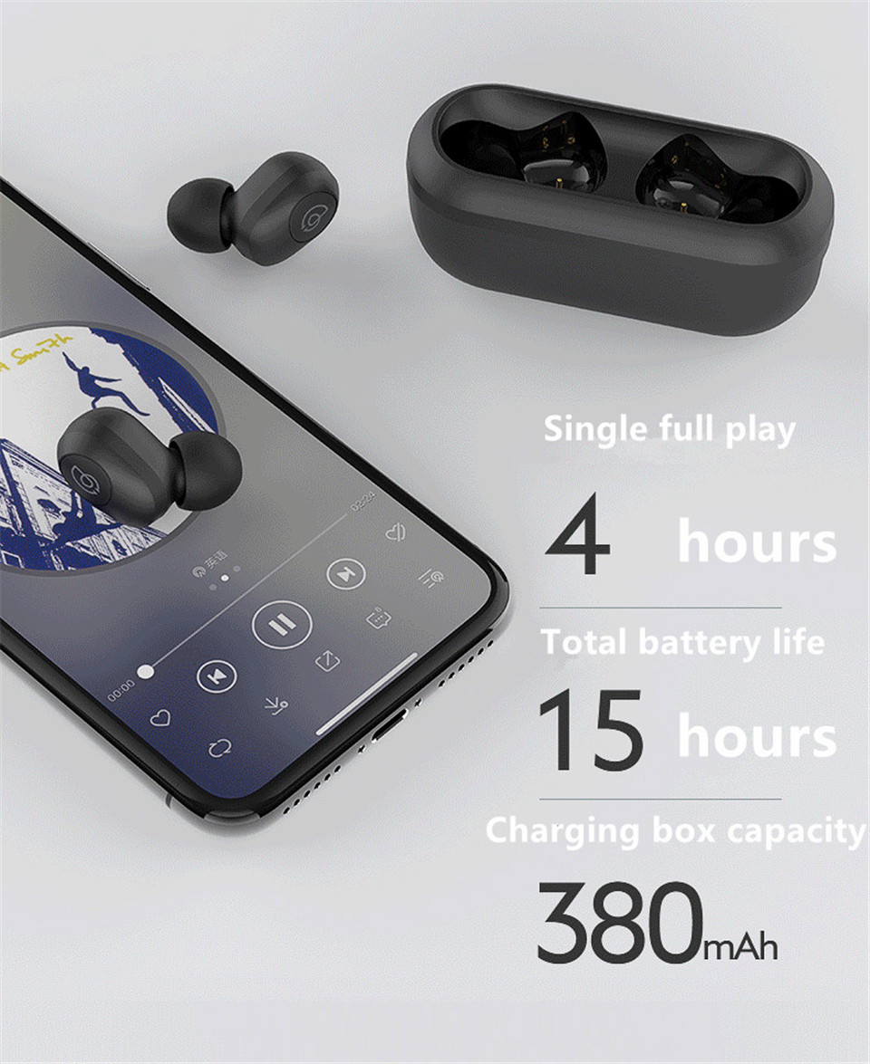 Haylou GT2 TWS Wireless bluetooth 5.0 Earphone Mini Portable 3D Stereo Bilateral Call Headphone with Charging Box from Xiaomi Eco-System