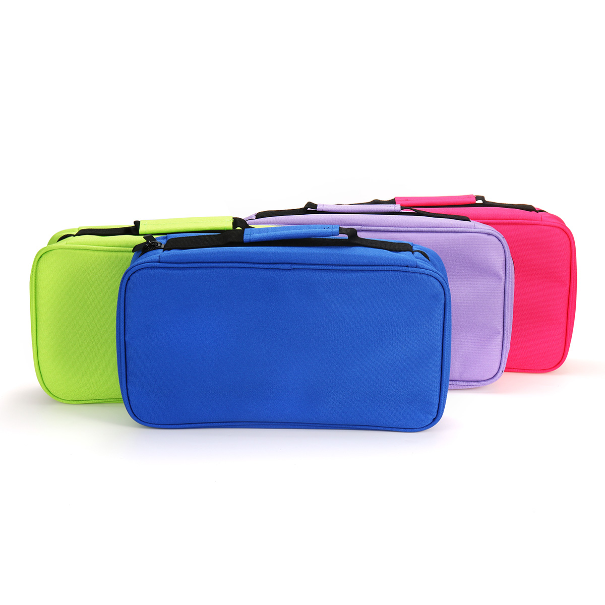 60 Colors Large Stationery Marker Pen Storage Bag Pencil Case Organizer Pouch Holder