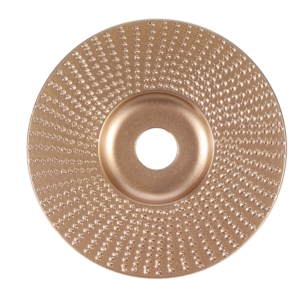 Drillpro 100mm Tungsten Carbide Plane Wood Shaping Disc Carving Disc 16mm Bore Sanding Grinder Wheel for 100 115 Angle Grinder