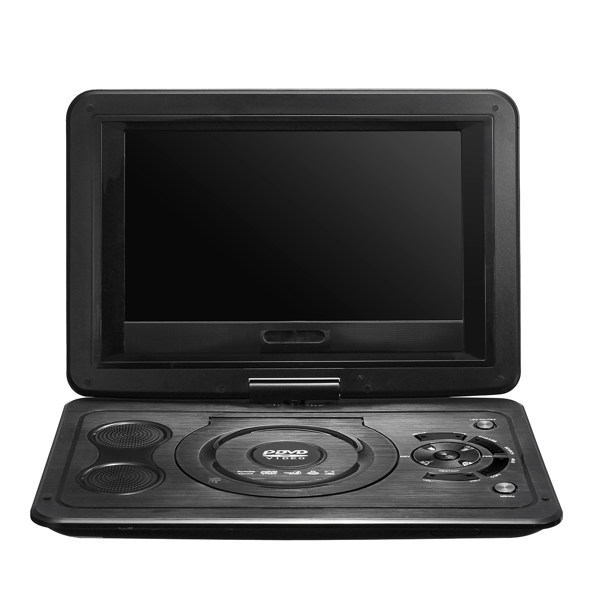 Portable 13.9inch 3D Car TV HD DVD Player 270° Rotate USB 300 Games with Remote