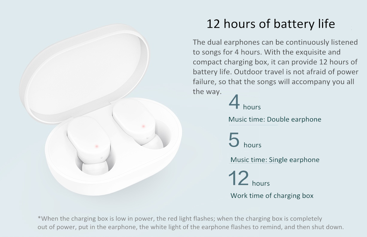 Original Xiaomi Airdots TWS Wireless bluetooth 5.0 Earphone Youth Version Touch Control Bilateral Call with Charging Box