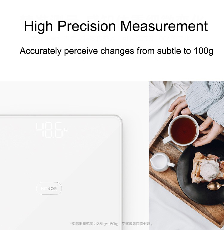 HUAWEI HONOR Weight Scale Power Save Precision Electronic Scale LED Display Home Fitness Yoga Tools Scale