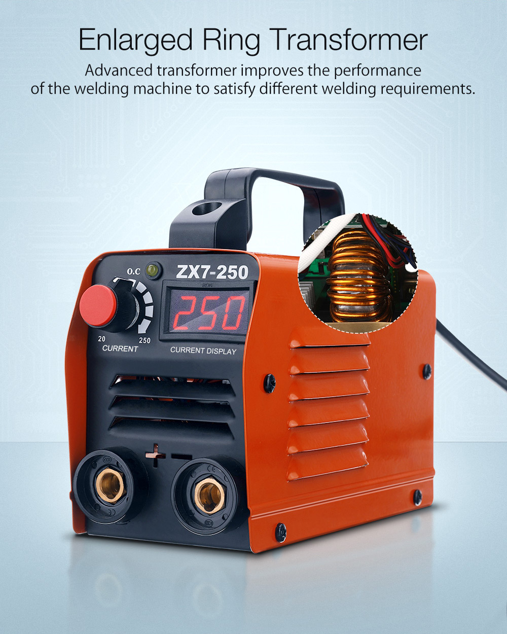 ZX7-250 250A Mini Electric Welding Machine Portable Digital Display MMA ARC DC