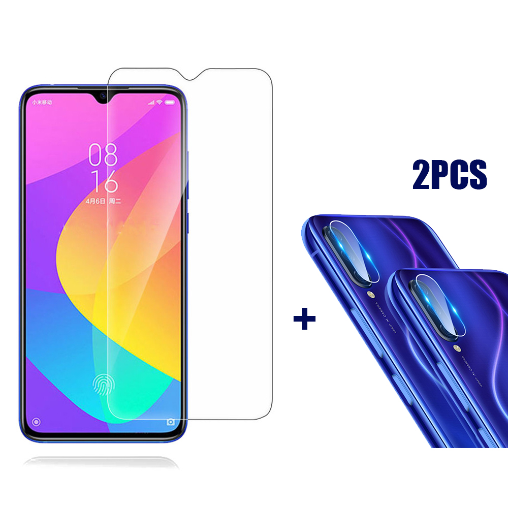 For Xiaomi Mi 9 Lite / Xiaomi Mi CC9 Bakeey Anti-Explosion Tempered Glass Screen Protector + 2PCS Anti-Scratch Phone Lens Protector