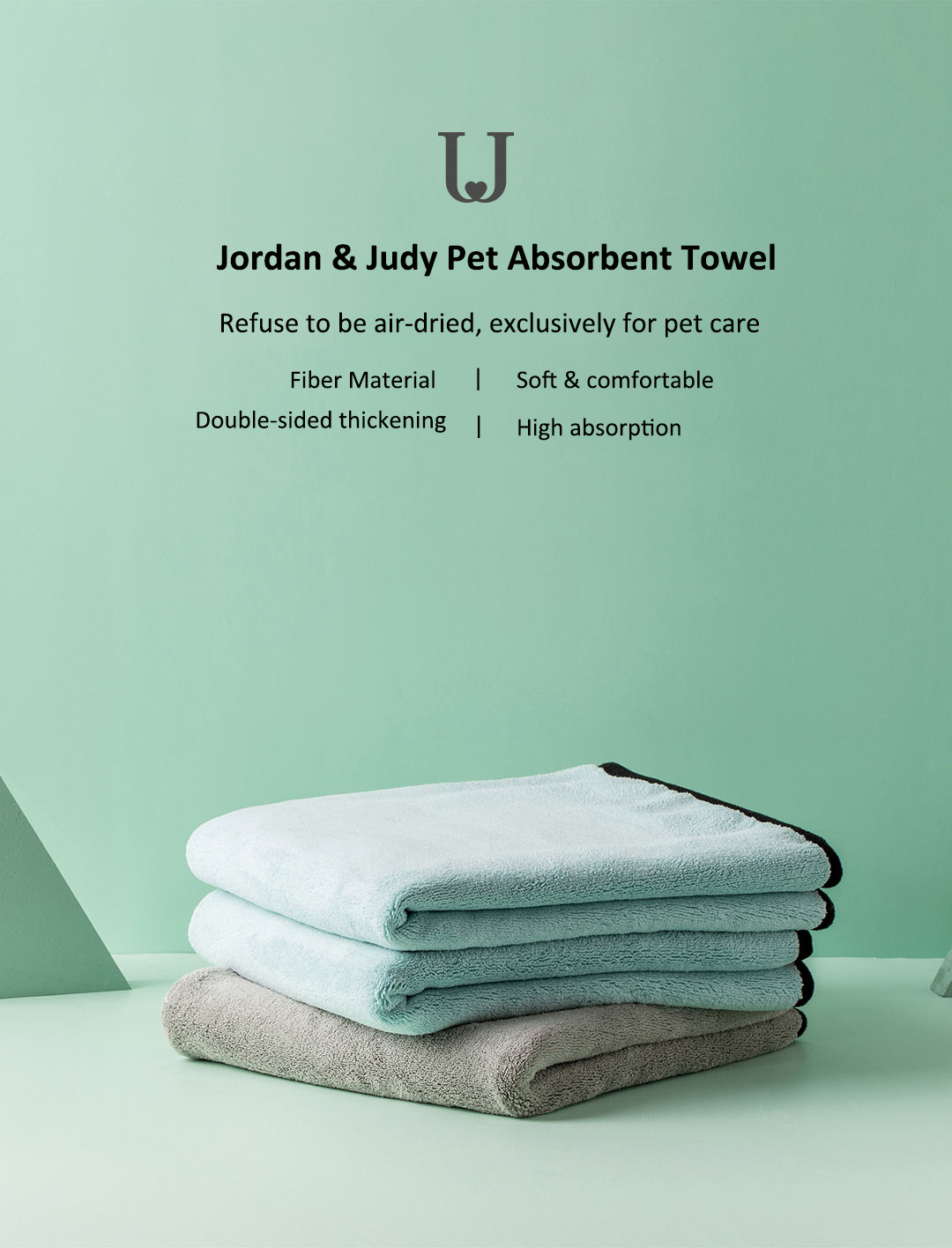 Jordan & Judy Pet Soft Microfiber Bath Towel Cleaning Wipes Water Absorption Quick Dry Cleaning Tools Pet Towels From XiaoMiYoupin