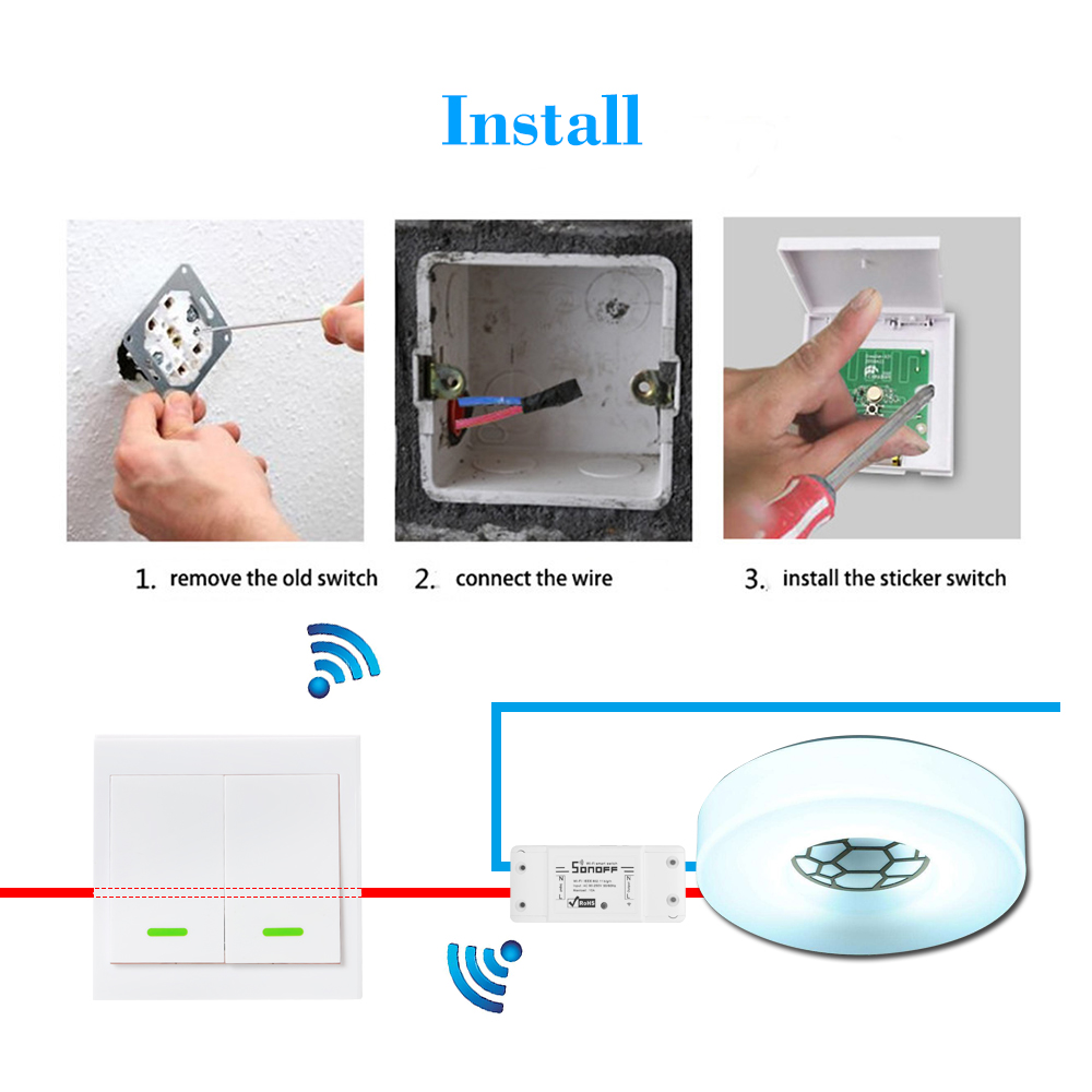 Wireless Remote Transmitter Sticky RF TX Smart For Home Living Room Bedroom 433MHZ 86 Wall Panel Works With SONOFF RF/RFR3/Slampher/iFan03/4CHProR2/TX Series/433 RF Bridge 14