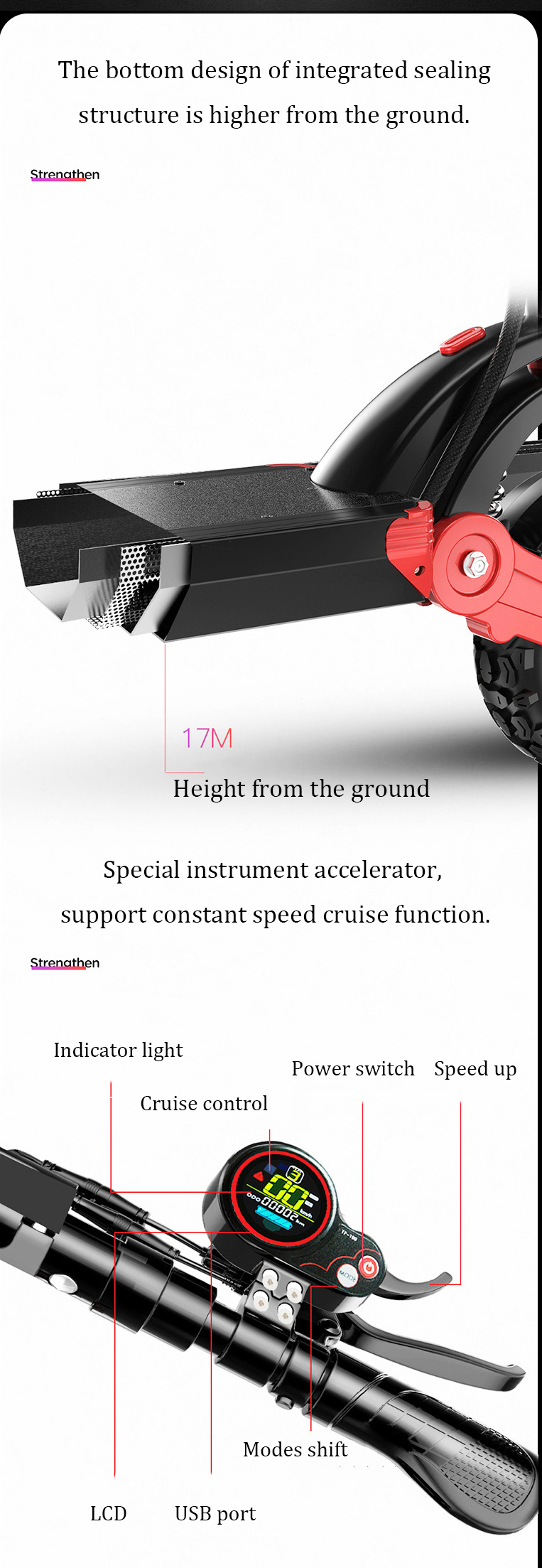 MACWHEEL M30 23Ah 48V 500W Dual Motor Folding Electric Scooter With Saddle Color Display 35km/h Top Speed 150km Mileage Range 150KG Bearing