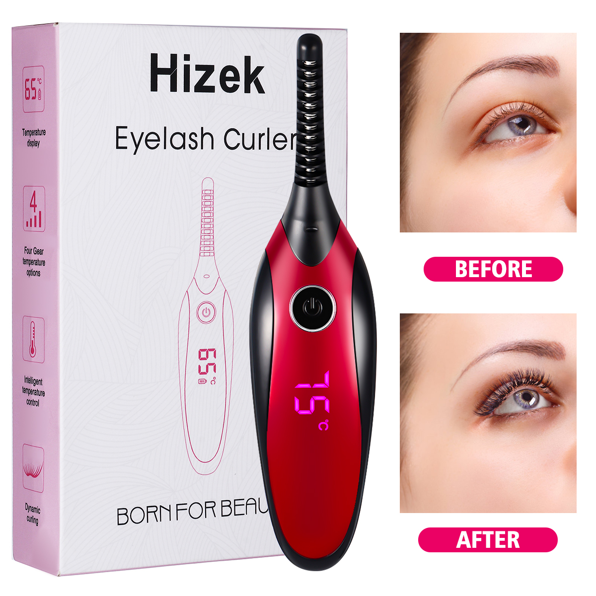 Fashion Women Mini USB Rechargeable Heated Electric Eyelash