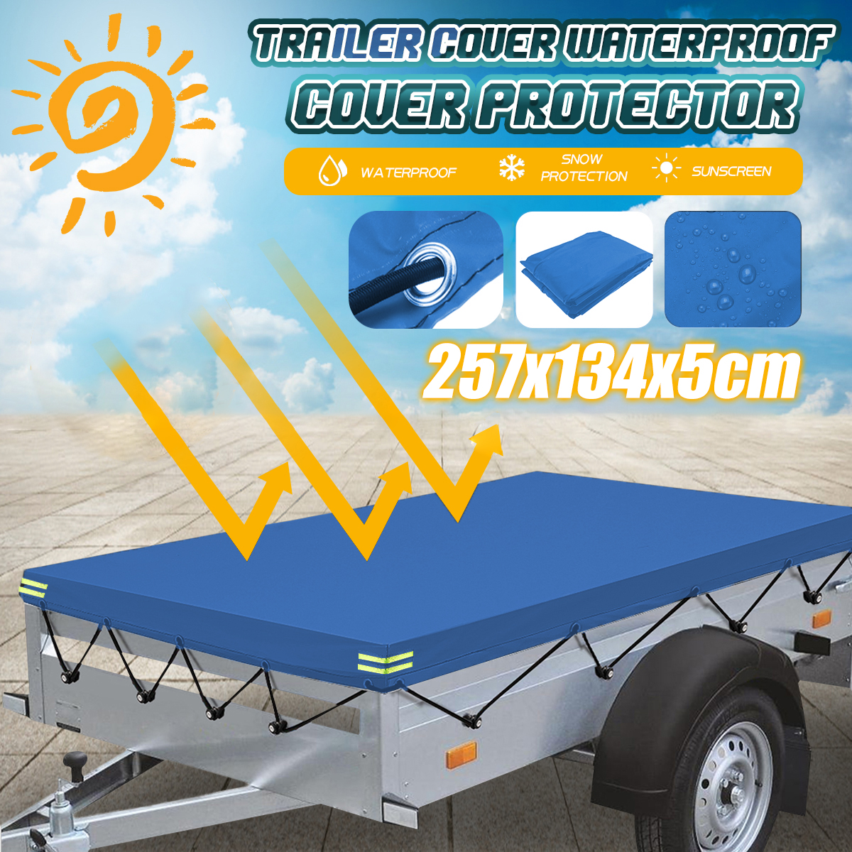 Multilayered Tarpaulin in Many Sizes and Thicknesses 15 Mil Heavy Duty Tarps 12 x 14 Blue Waterproof Ground Tent Trailer Cover