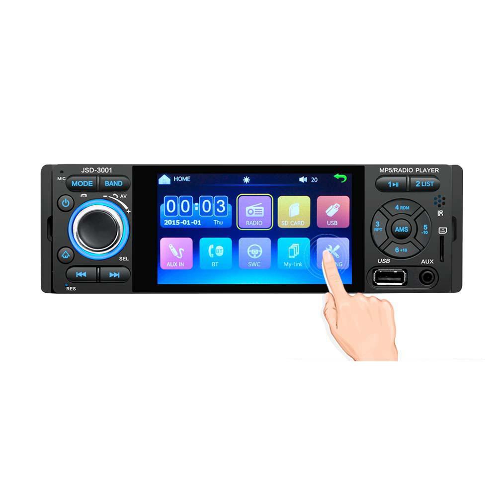3001 4,1 дюйма 1 Din Авто Стерео MP5-плеер с сенсорным экраном FM Радио Bluetooth USB AUX Mirror Link Дистанционное Управление Поддержка резервного копирования