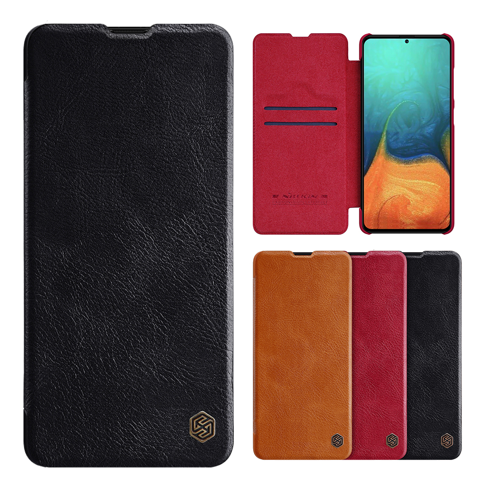 NILLKIN Flip Bumper Shockproof Card Slot Holder Full Cover PU Leather Vintage Protective Case for Samsung Galaxy A71 2019