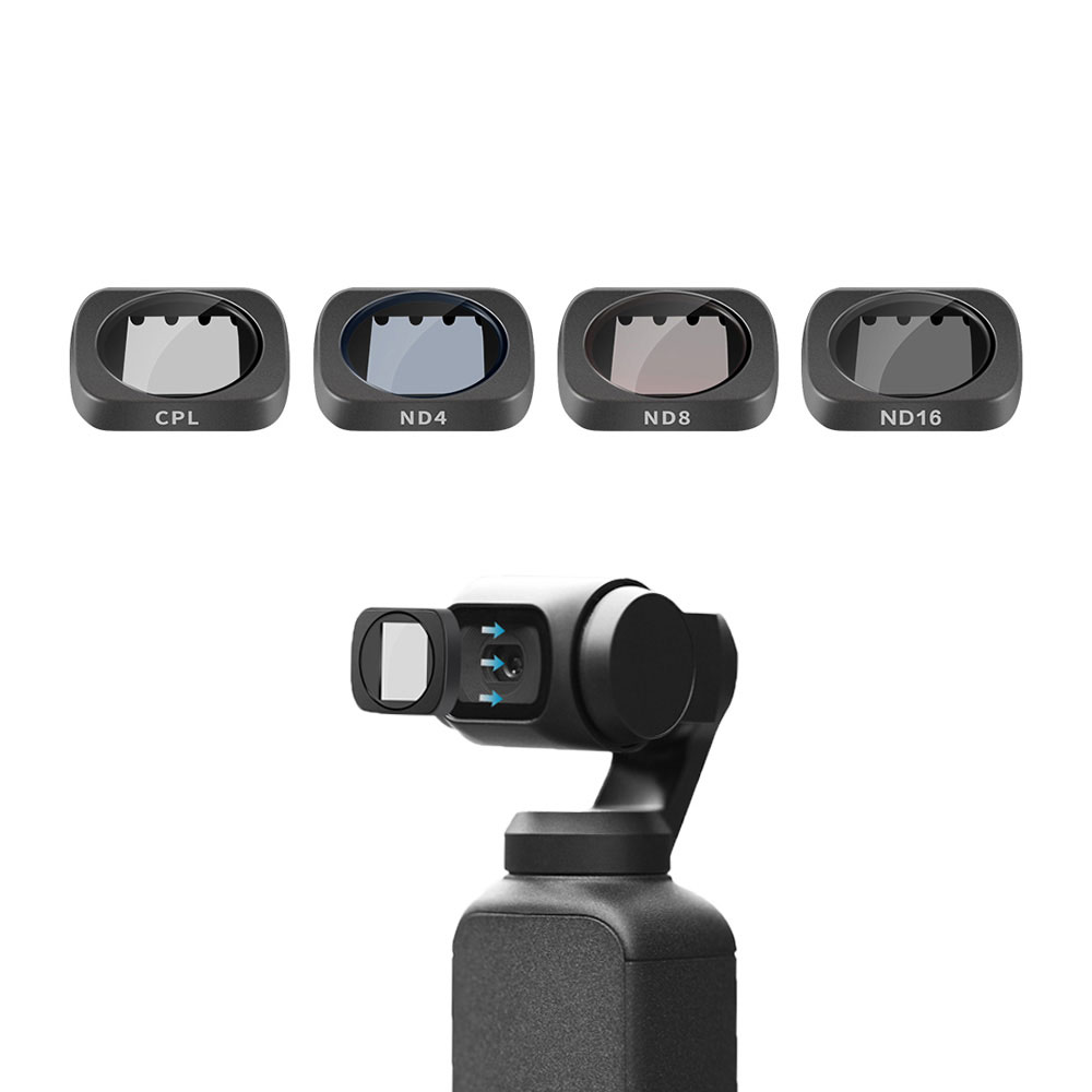 ND8 Red, a ND16 CPL 5pcs MCUV ND32 Camera Lens Filters for DJI OSMO Pocket