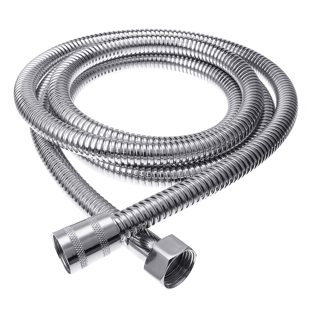 2M Long Stainless Steel Handheld Shower Tube Hose Replacement For Bathroom