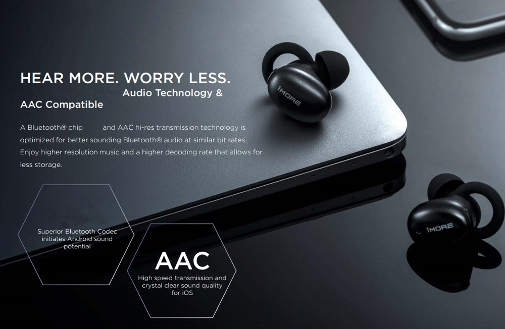 1More E1026BT TWS bluetooth 5.0 Earphone HiFi AAC Bilateral Call DSP Noise Cancelling Headphone with Charging Box from Xiaomi Eco-System 20