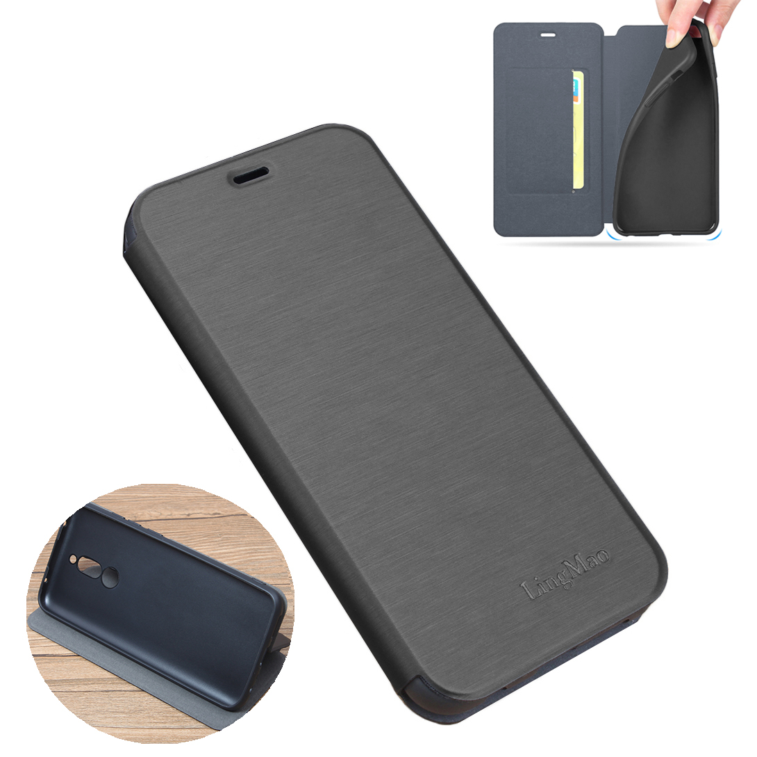 For Xiaomi Redmi 8 Case Bakeey Flip with Stand Card Slot Full Body Brushed Leather Shockproof Soft Protective Case