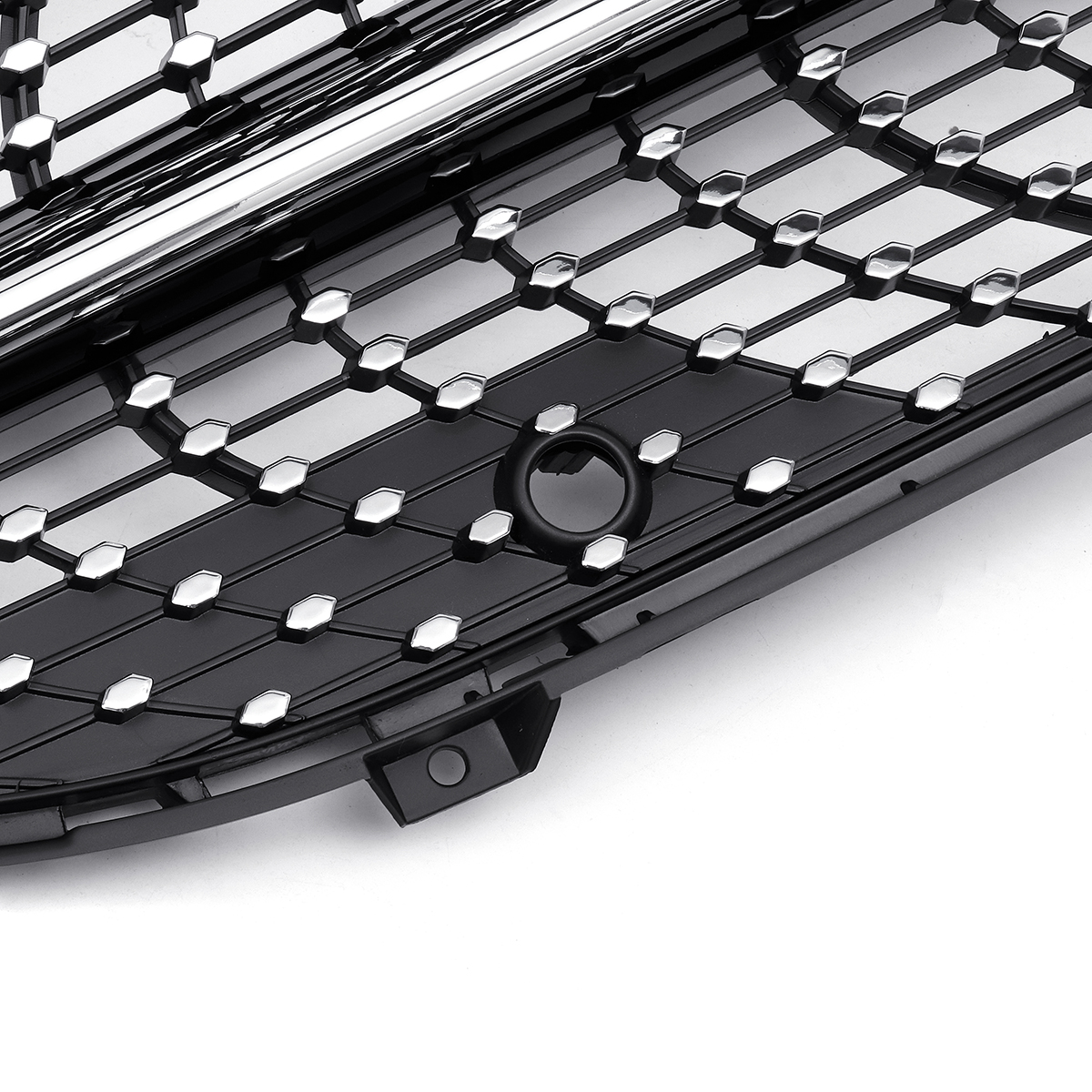 Black Diamond Gt Style Front Grille For Mercedes Benz A