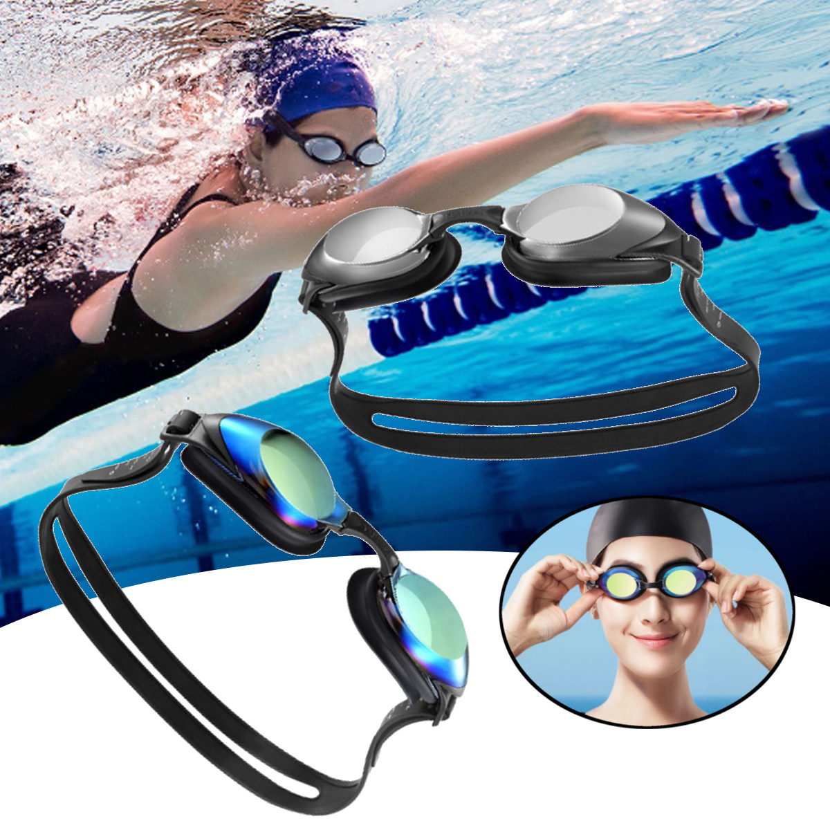 НаборочковдляплаванияYunmaiHD противошумные затычки для ушей пня Силиконовый Набор для плавания Очки от Xiaomi Youpin