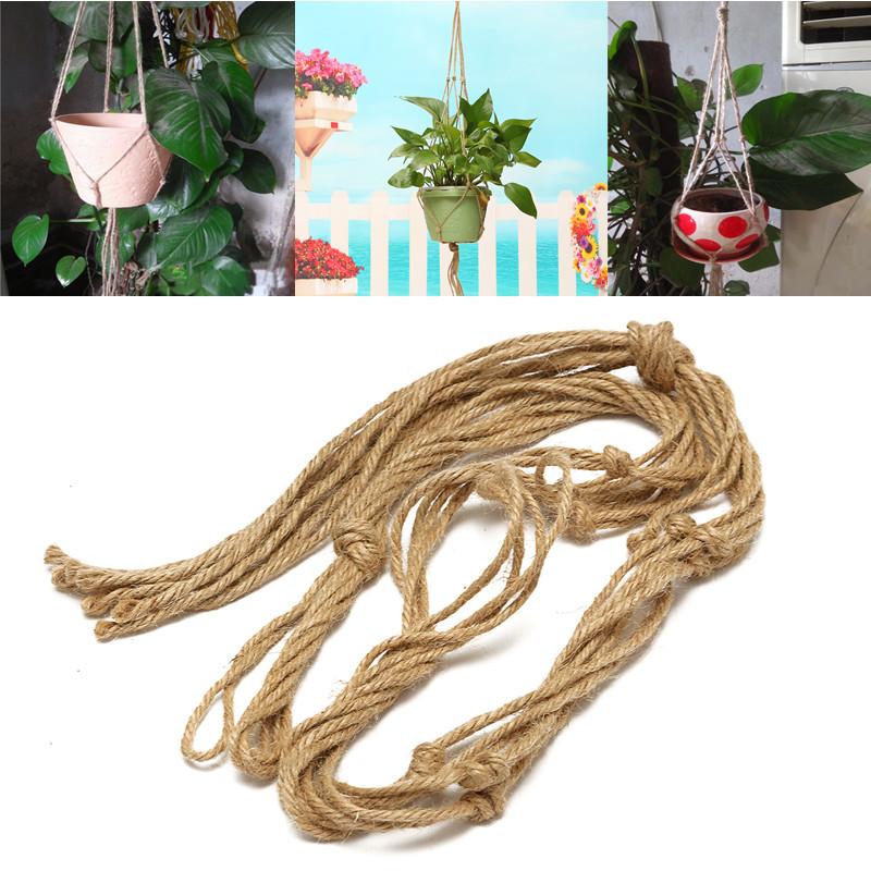 Вешалка для растений ручной работы Макраме подвеска для кувшина из джутового плетения
