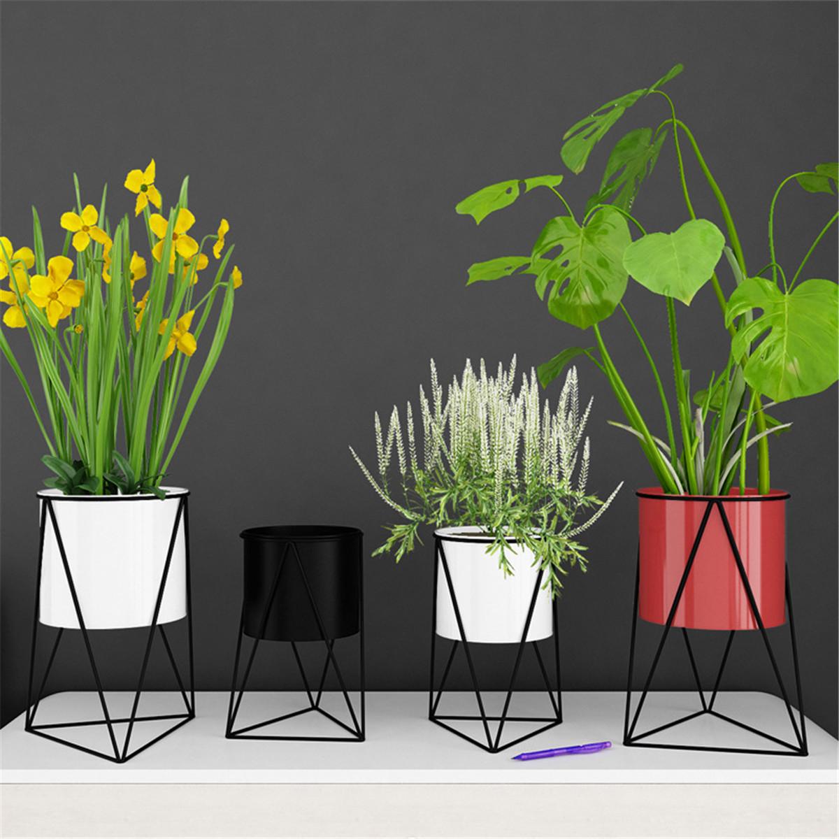 Геометрическая металлическая подставка для цветочного горшка Chic Крытый Сад Растение Держатель Дисплей Растениеer