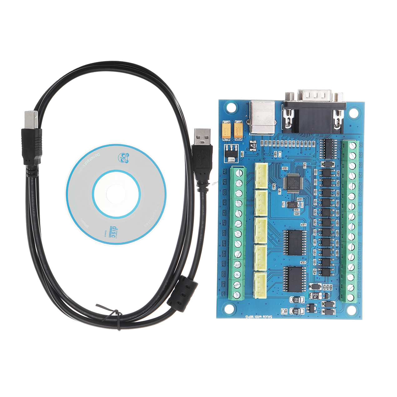 CNC Driver Board USB MACH3 Engraving Machine 5-Axis with MPG Stepper Motor Controller Card