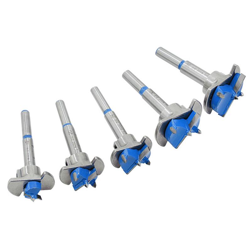 Drillpro Blue 15 20 25 30 35 мм Сверло Forstner Дереворез для шнека Hex Гаечный ключ Деревообрабатывающая кольцевая пила For Power Набор