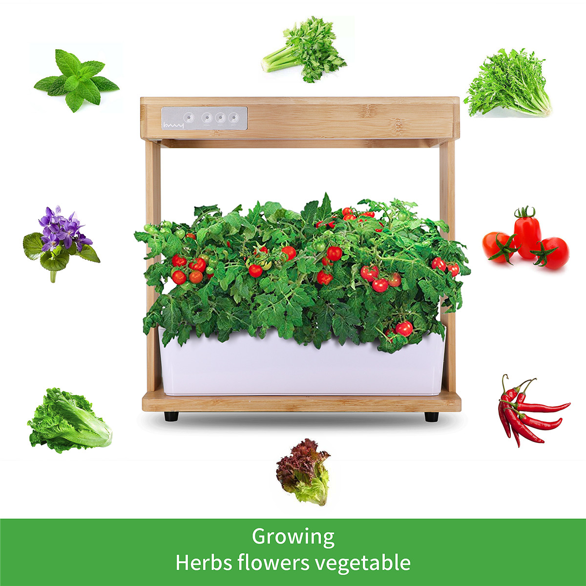 40W Indoor Plant Hydroponics Grow L;ight LED Garden Light For Plants Flowers Seedling Cultivation 12