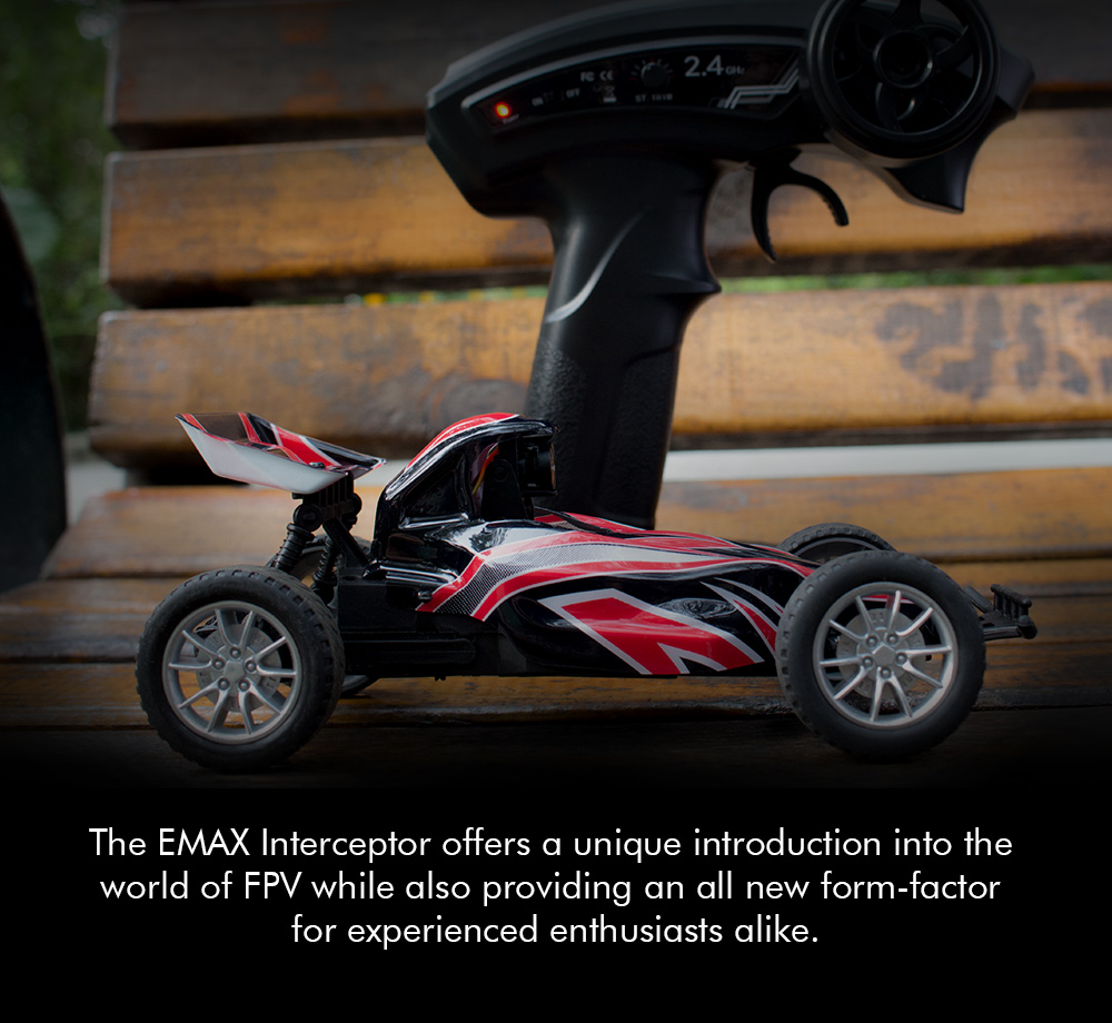 EMAX Interceptor 1/24 2.4G RWD FPV RC Car with Goggles Full Proportional Control RTR Model