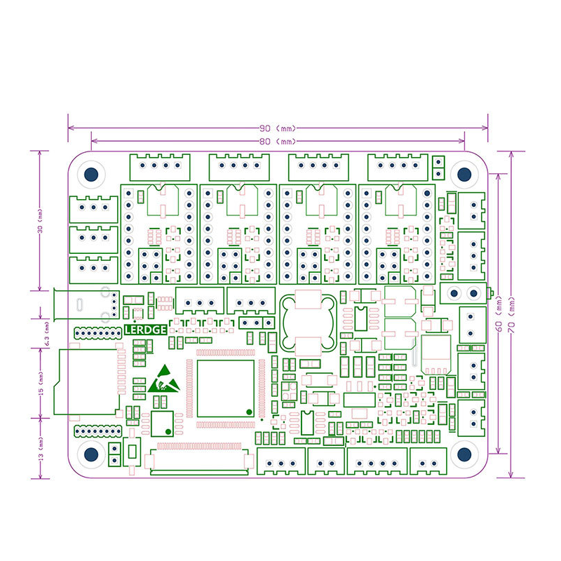 Lerdge-X ARM32 Mainboard with TMC2208 3.5Inch LCD Touch Screen Control Board DIY Kit for 3D Printer