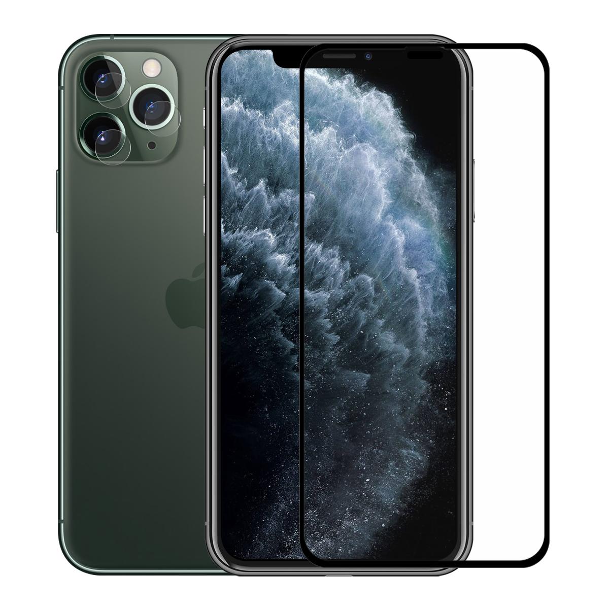 Enkay Полный Клей Закаленное Стекло-Экран Протектор + Задняя камера Объектив Протектор для iPhone 11 Pro Max