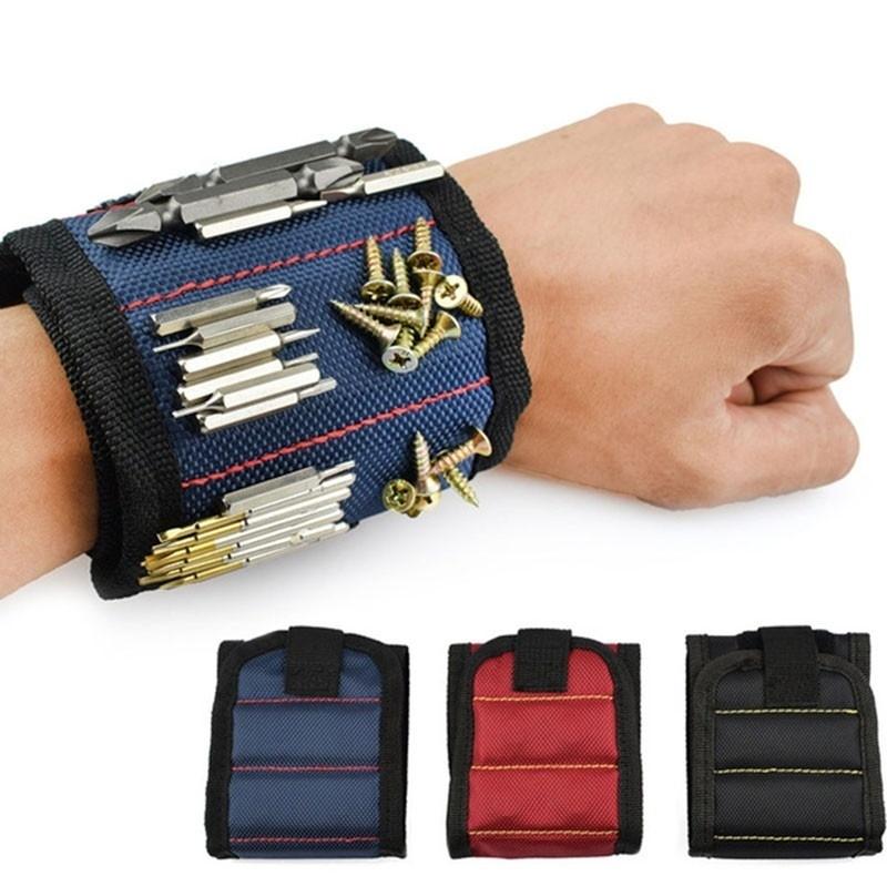 Сильный магнитный браслет Регулируемый Инструмент для винтов Маникюр Гайки Болты Дрель Биты Инструмент Набор