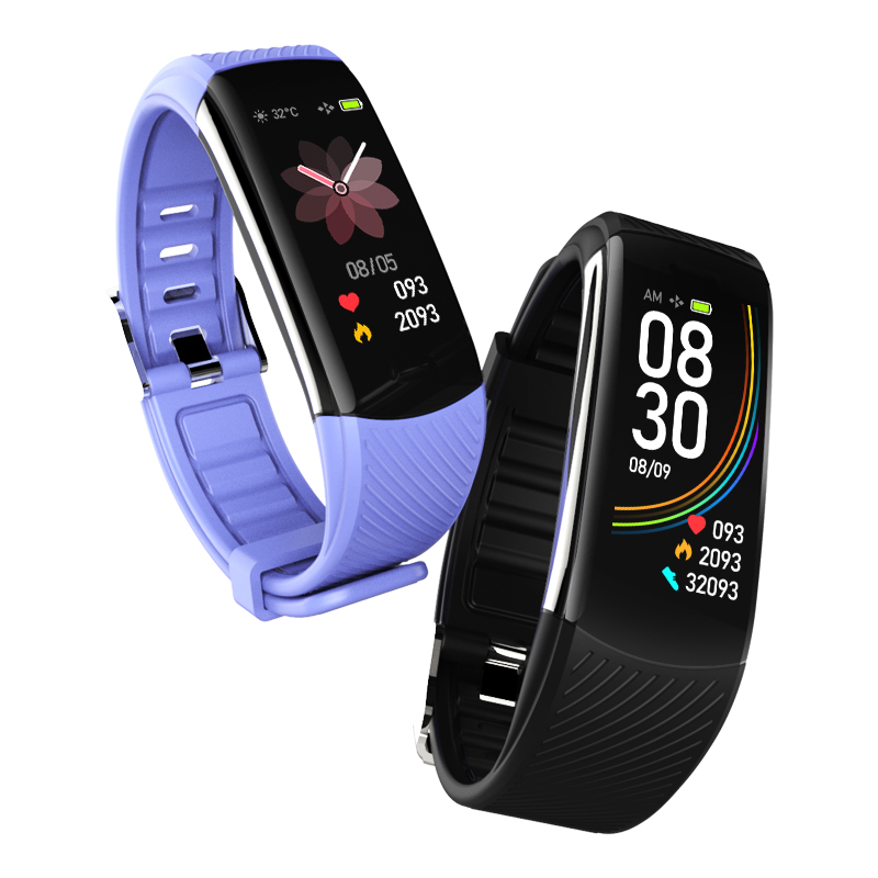 Bakeey C6 USB Charging Heart Rate Blood Pressure Oxygen Monitor Call ID Display Smart Watch