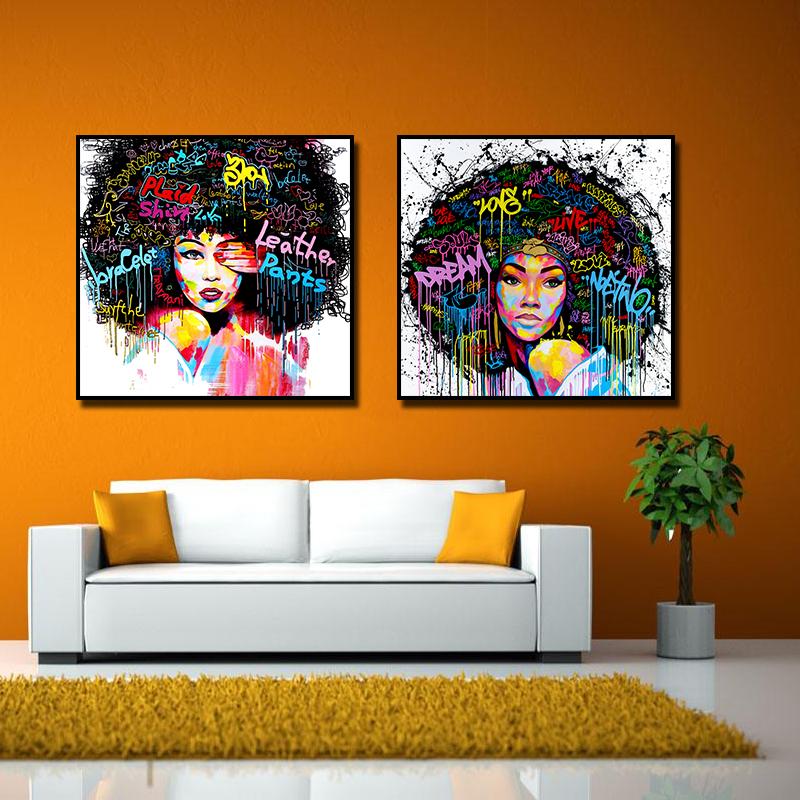 Miico Ручная Роспись Комбинация Декоративные Картины Девушка Портрет Wall Art Для Украшения Дома