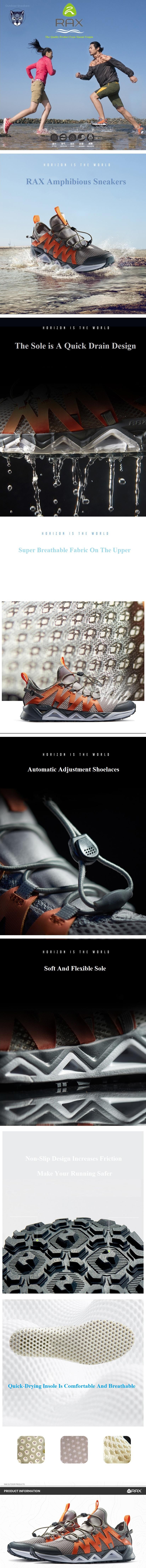 RAX Amphibious Men Ultralight Quick Drying Sneakers From Xiaomi Youpin