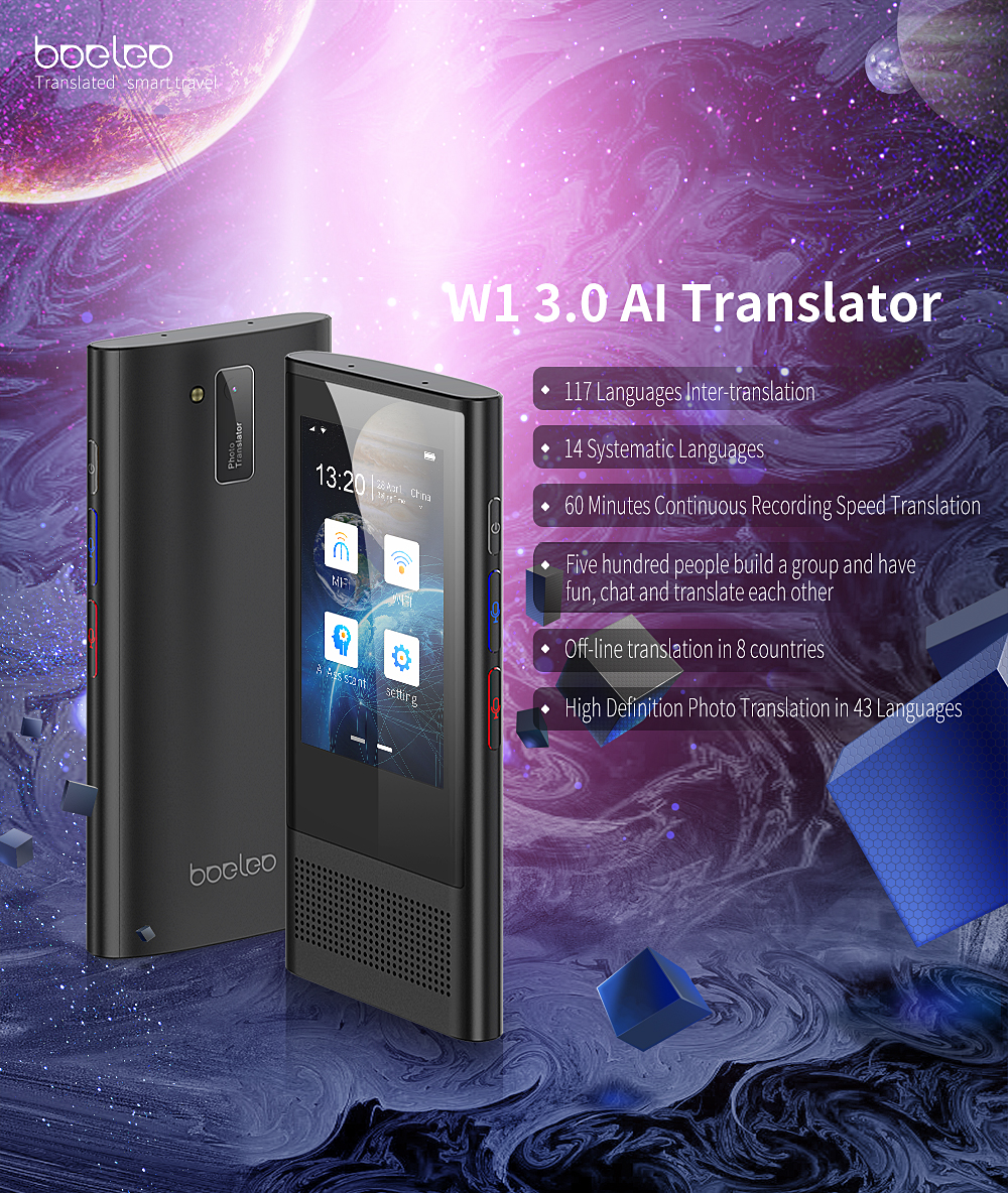 Boeleo W1 3 0 BF301 AI Translator 3 1inch Touch Screen 117 Languages  Support 4G Offline Photographic Recording Translation