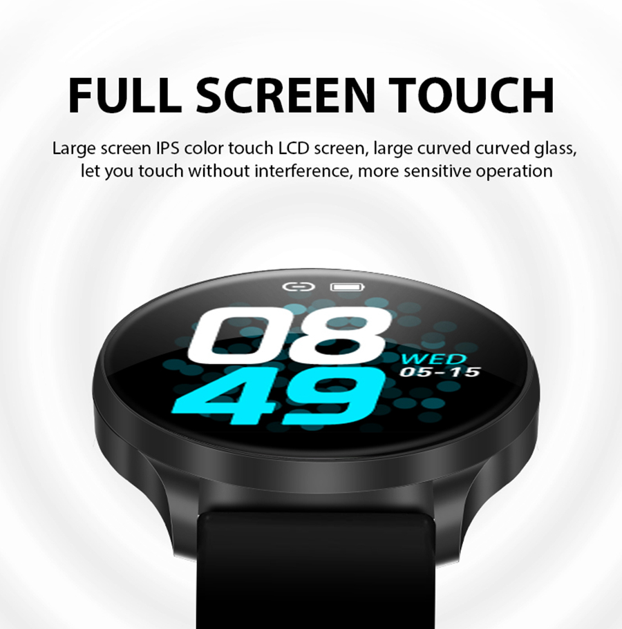 Bakeey C198S IPS Full Touch 8 Sports Mode Music Control Weather Blood Oxygen Monitor Smart Watch