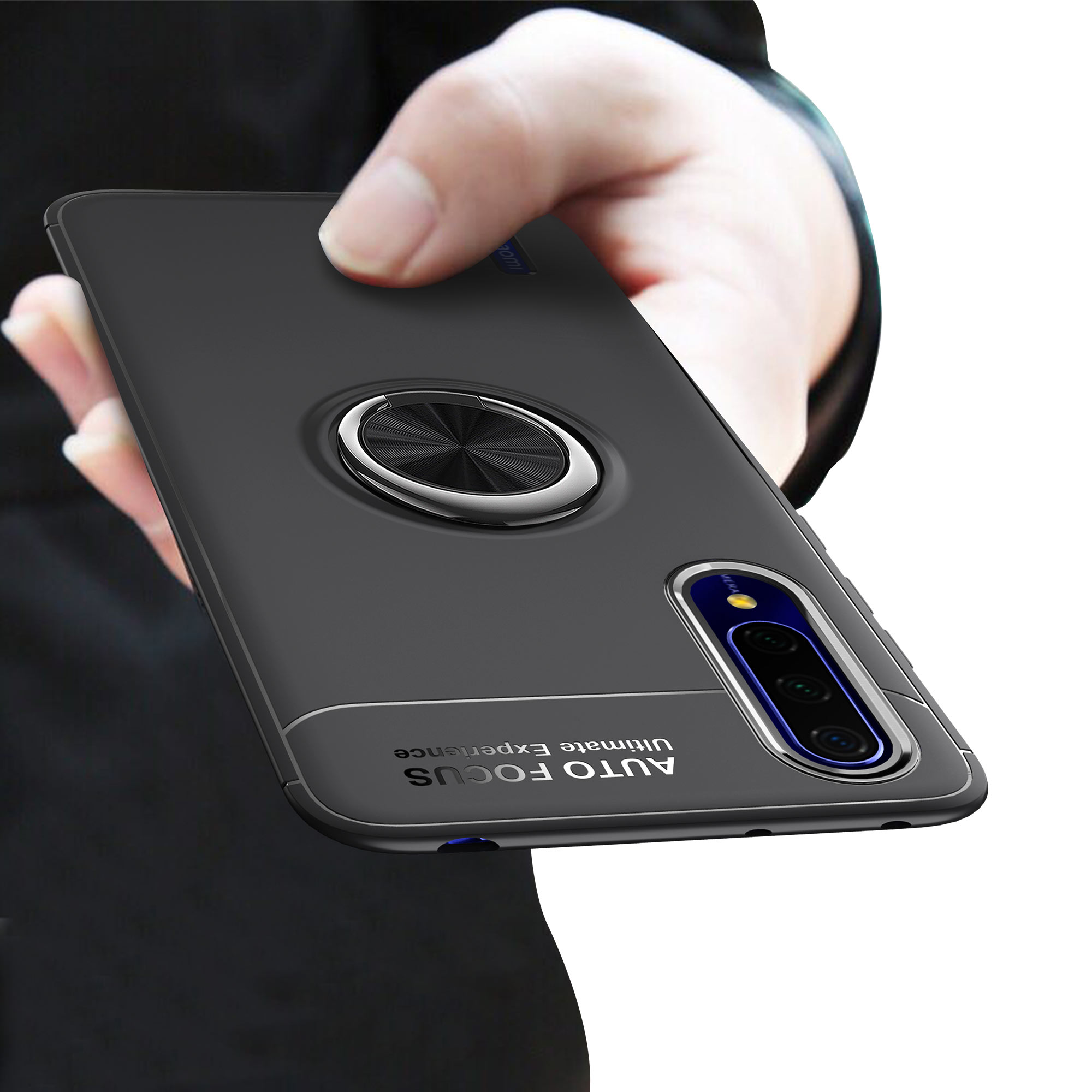 Bakeey Xiaomi Mi A3 / Xiaomi Mi CC9e 360º Rotating Magnetic Ring Holder Soft TPU Shockproof Protective Case