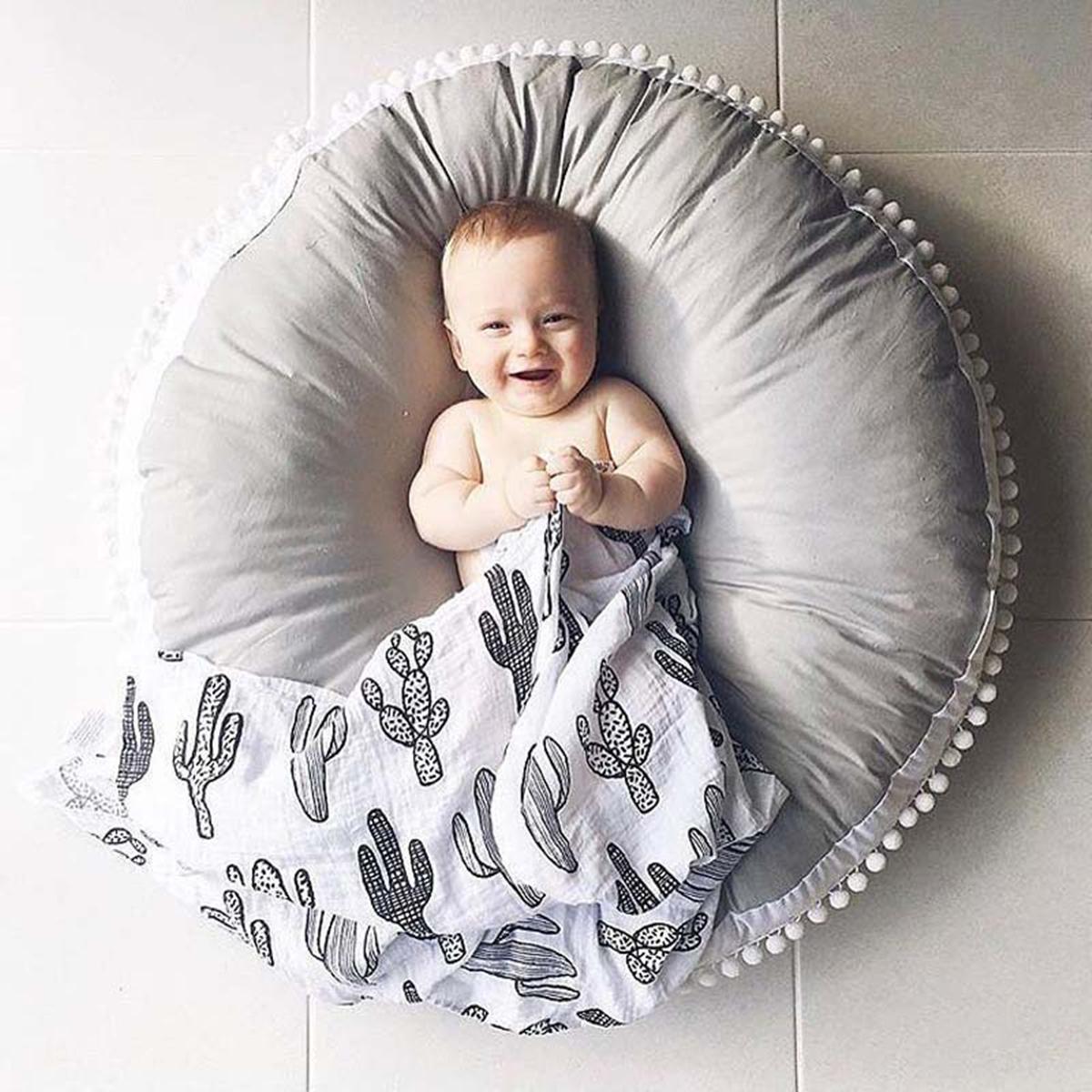 Мягкий хлопок Baby Kids Game Спортзал Активность Baby Play Коврик Ползучее одеяло Напольный коврик