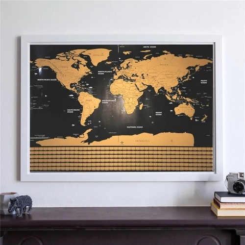 Scratch Off Map Interactive Vacation Poster World Travel Maps