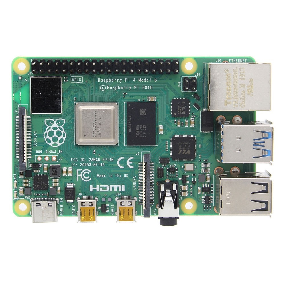 Raspberry Pi 4 Model B 1GB/2GB/4GB/8GB Mother Board Mainboard With Broadcom BCM2711 Quad-core Cortex-A72 (ARM v8) 64-bit SoC @ 1.5GHz