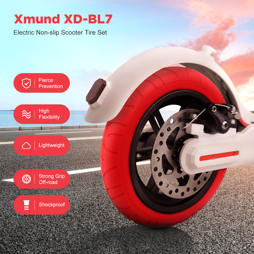 Xmund XD-BL7 Pneumatic Wheel Tire Set For Xiaomi M365/ Pro Electric Scooter Inner Tube Tire And Outer Tyre Electric Scooter Accessories