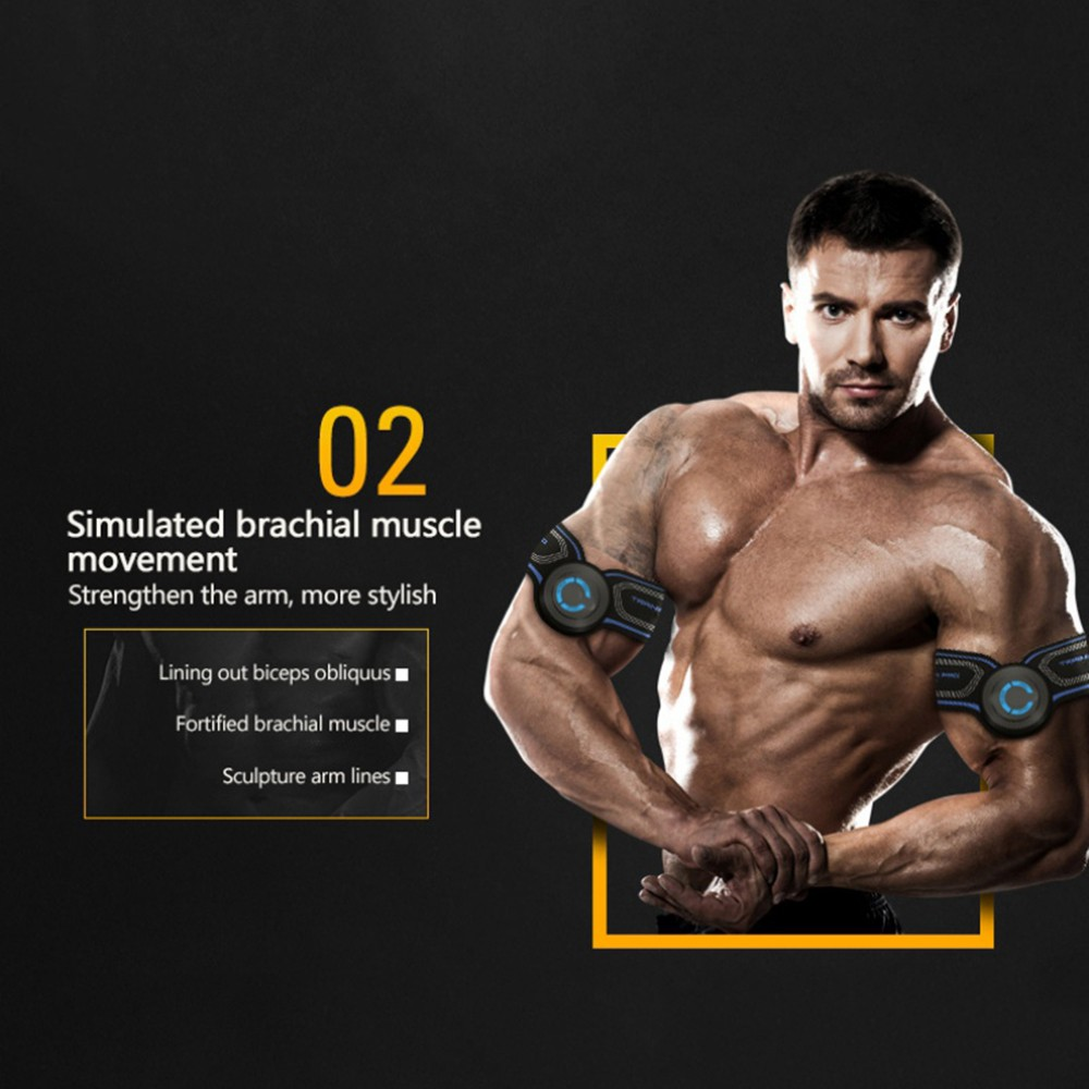 Upgrade Muscle Toner RechargeableEMS Abdominal Muscle Trainer Intelligent Fitness Professional Muscle Training Hip Muscle Trainer Body Building