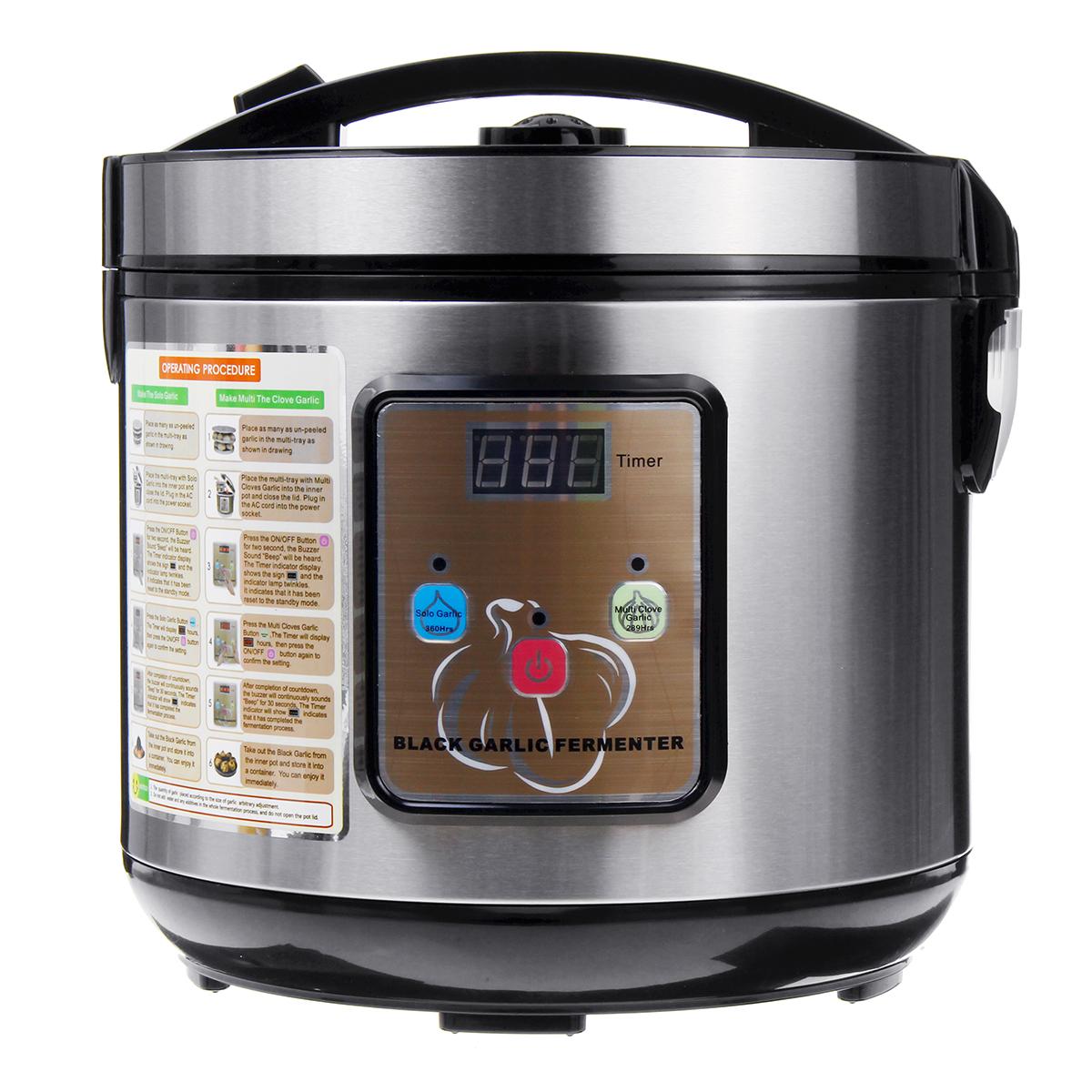5-6L 90W Черный Чеснок Ферментер Digtal Ferment Коробка Автоматическая регулировка температуры Кухонный комбайн